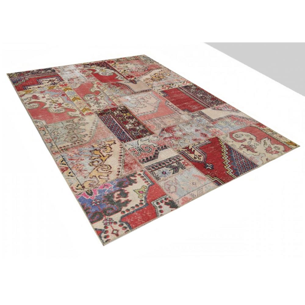 Muchos colorea lana hilada a mano alfombra patchwork 239 x 169 for Alfombras patchwork persas