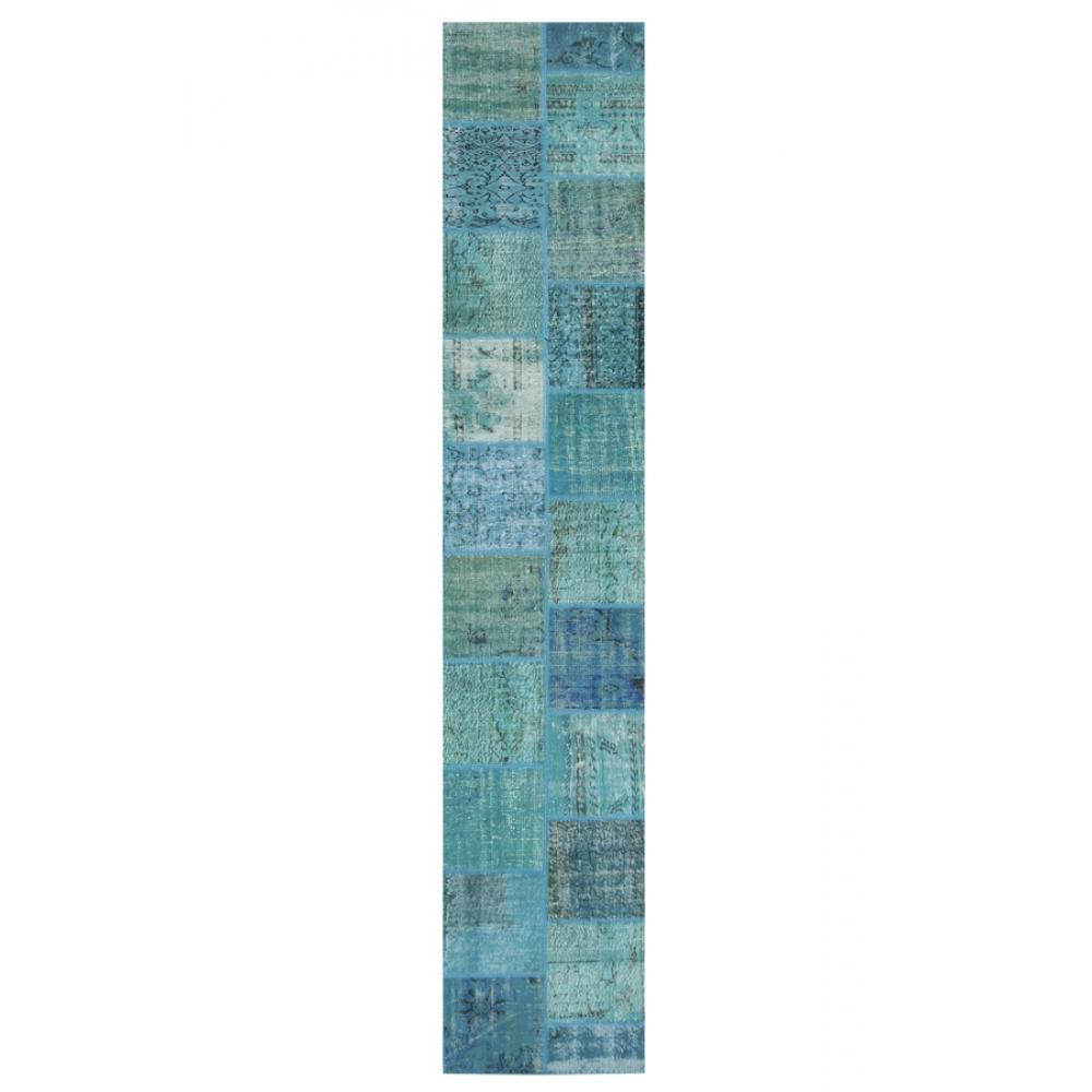 patchwork teppich blau 400 x 80. Black Bedroom Furniture Sets. Home Design Ideas