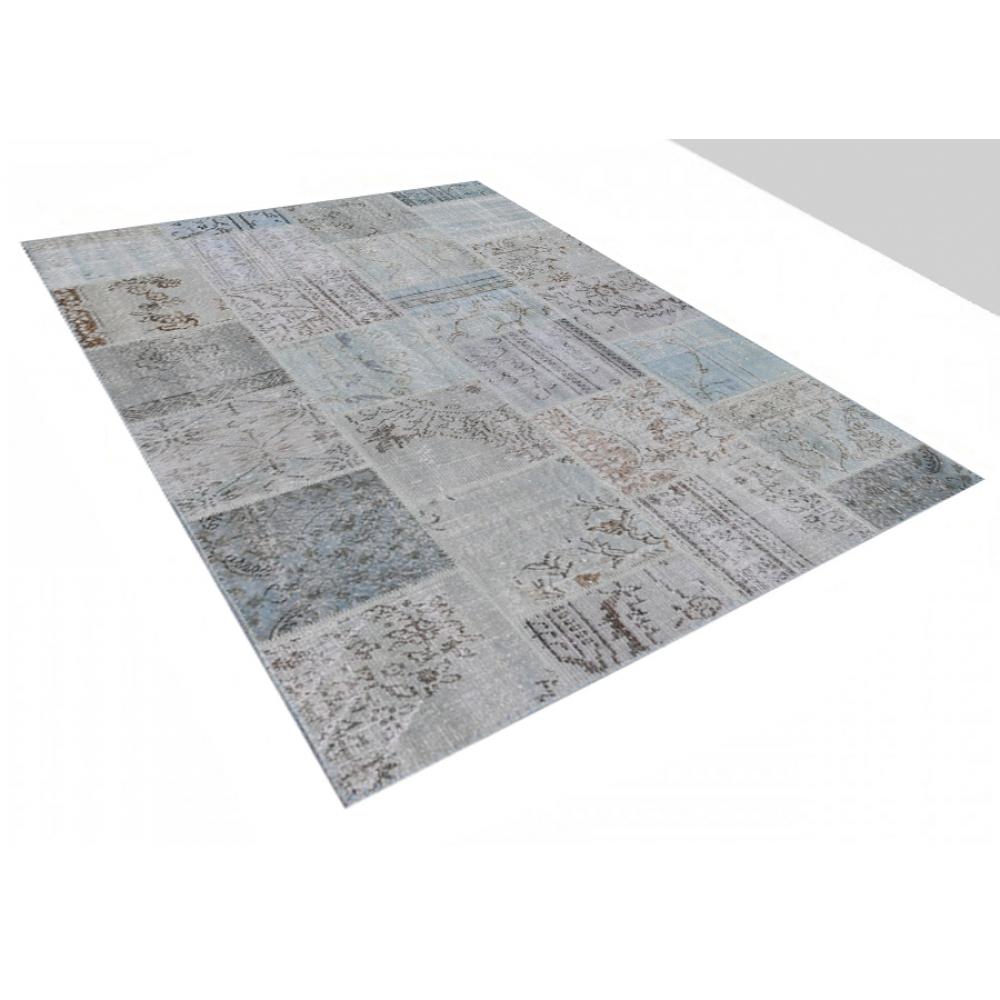 patchwork teppich grau 237 x 170. Black Bedroom Furniture Sets. Home Design Ideas