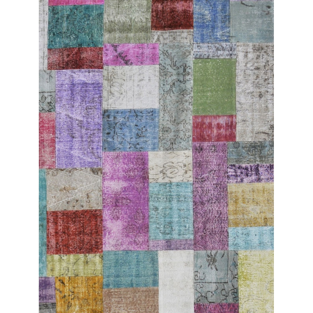 Patchwork tapis multi couleur 500 x 300 - Tapis patchwork multicolore ...