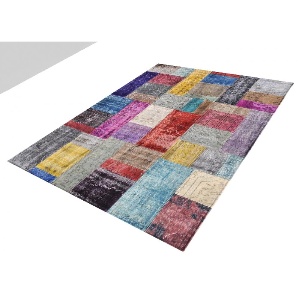 Alfombra patchwork muchos colorea 240 x 173 - Alfombras patchwork vintage ...
