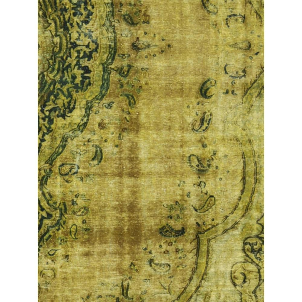 vintage teppich gr n 390 x 278. Black Bedroom Furniture Sets. Home Design Ideas