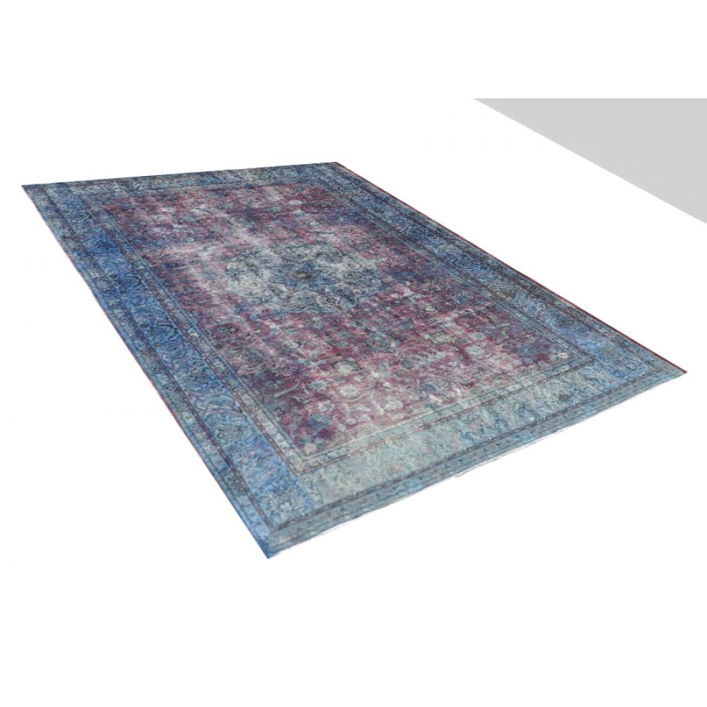 blau handgesponnene wolle vintage teppich 465 x 300. Black Bedroom Furniture Sets. Home Design Ideas