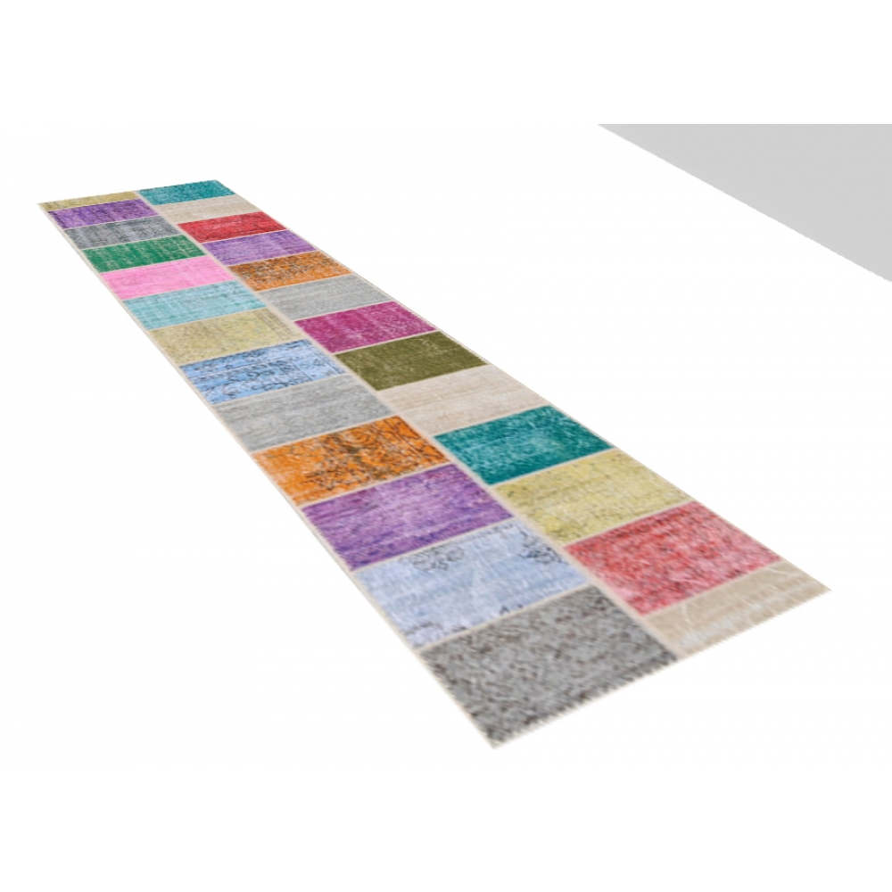 Alfombra patchwork muchos colorea 500 x 80 - Alfombras patchwork vintage ...