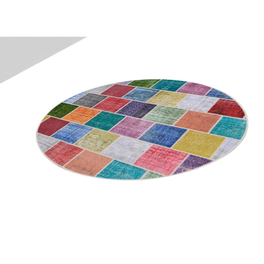 Alfombra patchwork muchos colorea 250 x 250 - Alfombras patchwork vintage ...