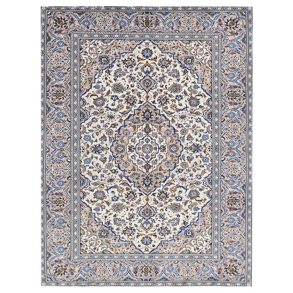 beige handgesponnene wolle vintage teppich 292 x 188. Black Bedroom Furniture Sets. Home Design Ideas