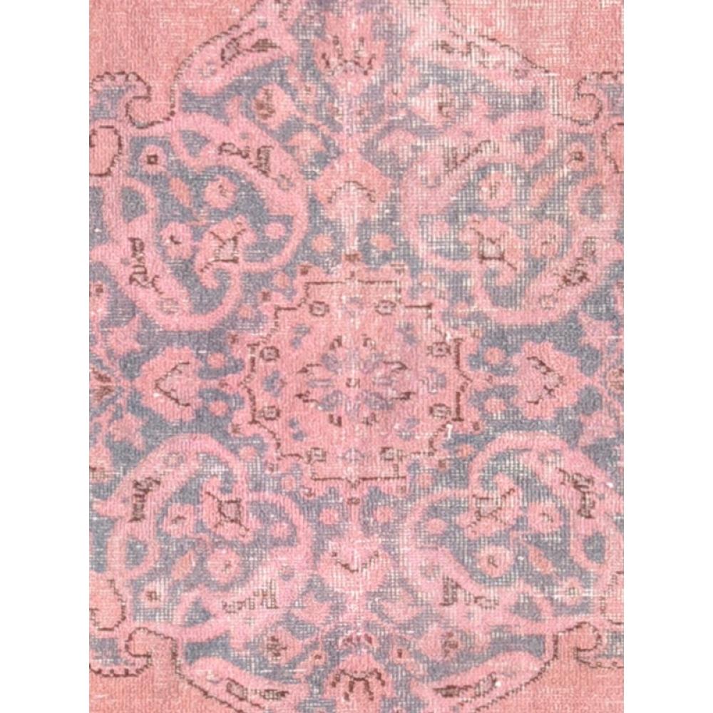 Rosso lana filata a mano tappeto vintage 247 x 151 - Tappeti turchi vintage ...