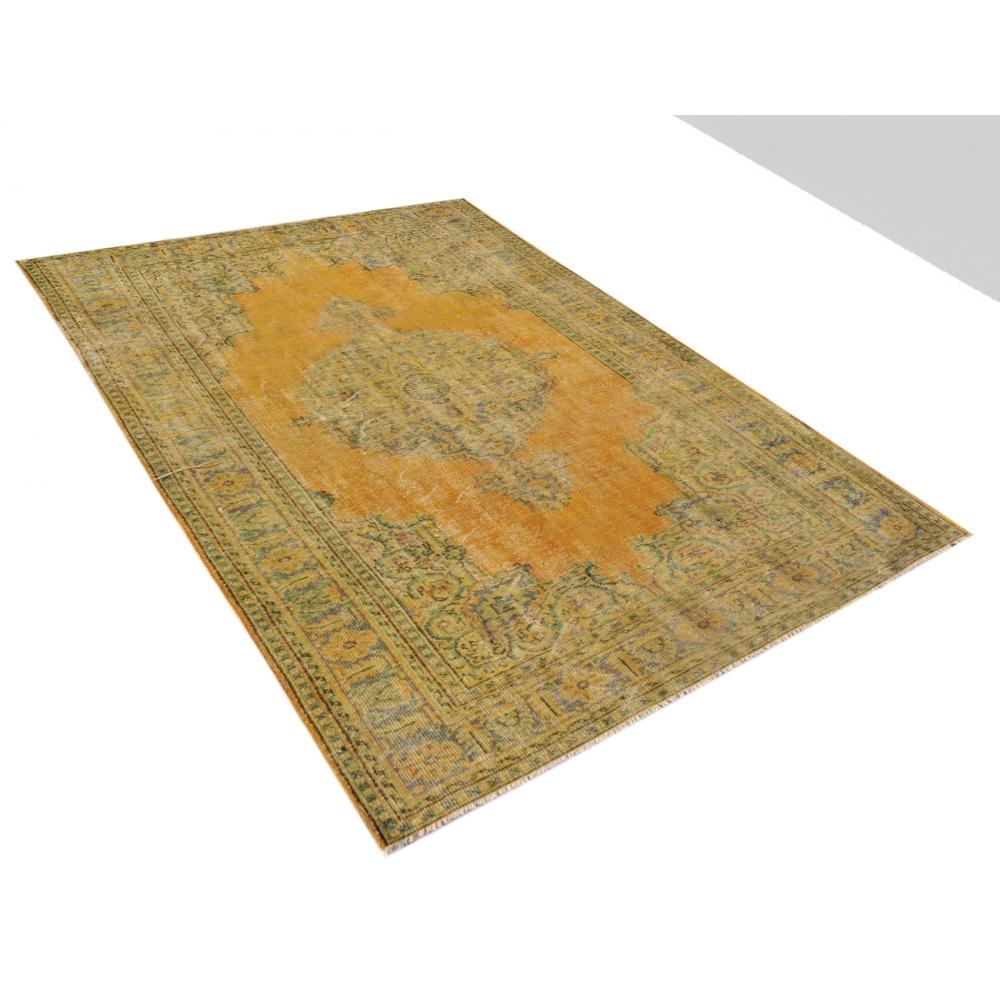 vintage tapis jaune tapis 296 x 202. Black Bedroom Furniture Sets. Home Design Ideas