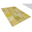 Patchwork Teppich  Gelb