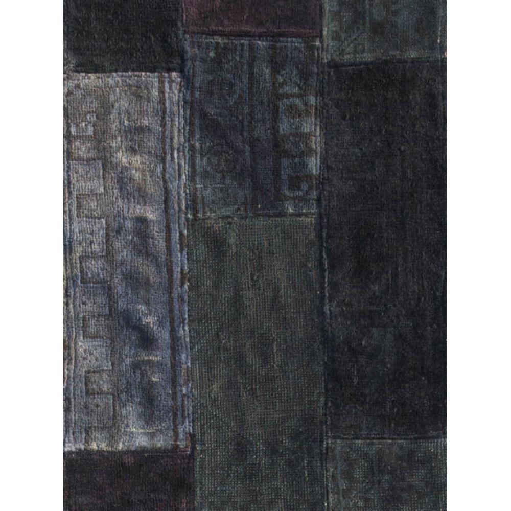 Alfombra patchwork gris 357 x 74 - Alfombras patchwork vintage ...