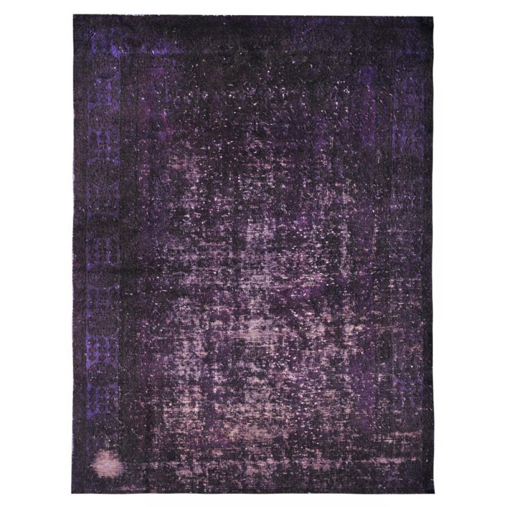 lila handgesponnene wolle vintage teppich 200 x 117. Black Bedroom Furniture Sets. Home Design Ideas